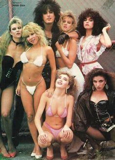 Nikki Sixx and Groupies T. Chica Heavy Metal, Heavy Metal Girl, Heavy Metal Music, Lita Ford, Glam Metal, Beastie Boys, Nikki Sixx, Female Guitarist, Female Singers