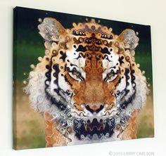 "TIGER Larry Carlson 16 x 20"" canvas"