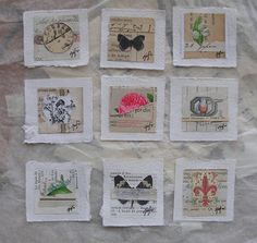 caterina giglio, mini-mini works on paper, french paper series, $14 each La Dolce Vita
