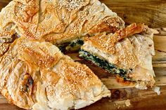 Spinach, Pine Nut and Feta Pan Pie