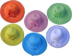 Girl Tea party, straw Easter, summer hat