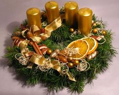 Christmas Wreaths, Christmas Decorations, Table Decorations, Holiday Decor, Advent Wreath, Centerpieces, December, Candles, Flowers