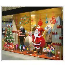Xmas Window Decor Vinyl Wall Decals Santa Room Sticker Christmas Decoration EA