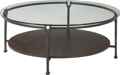Ernest Hemingway® Clarity Round Cocktail Table (Maduro)   Find out about this and other well-crafted Thomasville furniture when you visit your nearest Thomasville retailer. There, our designers will help you realize the perfect home that you've always imagined.