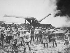 Primeira Gurra Mundial: Exército francês faz disparo com canhão.  (Foto: U.S National Archives)