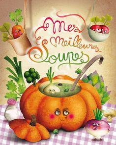Marie Desbons: cahier-soupes  #vegetables #illustration