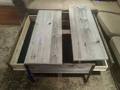 2 Drawer Old Barn Wood Pop up Table by ArtistandCarpenter on Etsy