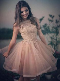 2018 A Line Homecoming Dress Lace Cheap Homecoming Dress # VB2122