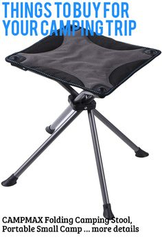 (This is an affiliate pin) CAMPMAX Folding Camping Stool, Portable Small Camping Fishing Chair Stool, Outdoor Slacker Chair for Backpacking, Hiking, BBQ, Picnic, Travel Camping Stool, Camping Furniture, Fishing Chair, Fish Camp, Things To Buy, Backpacking, Picnic, Bbq, Hiking