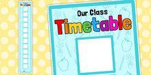 Vertical Visual Timetable Display - vertical, visual, timetable
