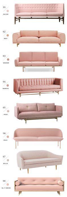 8 best pink sofas - smitten studio - Bloglovin' | www.bocadolobo.com/ #livingroomideas #livingroomdecor