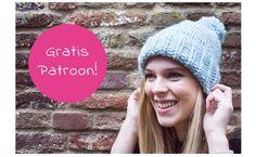 Easy Knitting Pattern Hat for Beginners : Free Knitting Pattern Essentials Chun. Easy Knitting Pattern Hat for Beginners : Free Knitting Pattern Essentials Chunky Hat Knit Hat Pattern Easy, Beanie Pattern, Free Pattern, Easy Knitting Projects, Knitting For Beginners, Intarsia Knitting, Free Knitting, Knitting Patterns Boys, Knit Dishcloth