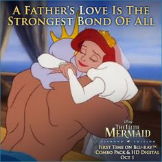 disney little mermaid. a fathers love. Little Mermaid 2, Disney Little Mermaids, Disney Love, Disney Magic, Disney Songs, Disney Art, Disney Pixar, Disney Characters, Character Poses