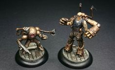 More Malifaux miniatures, C. Hoffman and Mechanical Attendant