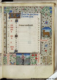 Book of Hours, MS G.55 fol. 5r - Images from Medieval and Renaissance Manuscripts - The Morgan Library & Museum