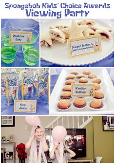 Kids' Choice Awards Viewing Party: Spongebob's Krabby Patties - A Grande Life Spongebob Birthday Party, Fourth Birthday, 3rd Birthday Parties, Birthday Ideas, Nickelodeon Spongebob, Water Party, Food Tent, Sponge Bob, Food Themes