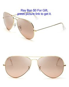 ae0856e30c Pink rose Ray-Ban aviator sunglasses with gold frames Pink Sunglasses
