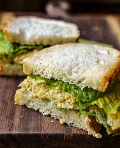 "busy girl lunch idea: ""chickpea of the sea"" sandwich"