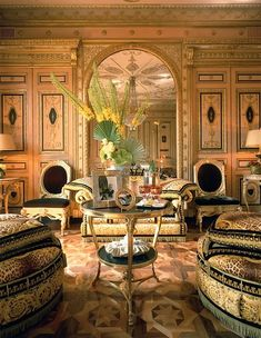 Bittersweet Vogue: Donatella Versace's house  |  love all the touches of black