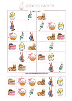 Preschool Math, Kindergarten Worksheets, Kindergarten Activities, Educational Activities, Sudoku Puzzles, Puzzles For Kids, Yoga For Kids, Art For Kids, Easter Activities For Kids