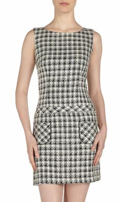 Laundry-by-Shelli-Segal-Check-Drop-Waist-Dress