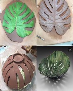 Rustic serving bowls made from antique crocheted doilies impressions in the sides.Resultado de imagen para clay pottery ideas for beginnersPin by Karen Efthemes on Pottery slab workCreative clay bowl using a p Hand Built Pottery, Slab Pottery, Ceramic Pottery, Pottery Art, Thrown Pottery, Pottery Gifts, Pottery Painting, Pottery Tools, Pottery Classes