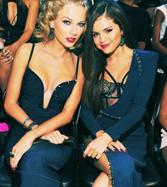 Taylor Swift & Selena Gomez. OKAY SO one is a disney star and the other isn't.  You want to be sexy & show a little skin then this is how it should be done.  They are still keeping it classy!