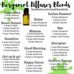 Mmm, love bergamot so much. Balance, cypress, wild orange,