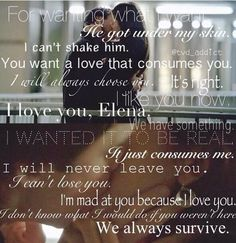 Quotes via Damon and Elena from TVD~