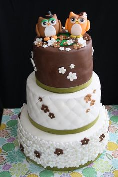 Owl Wedding Cake  Cake by CakeCreationsCecilia