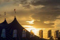 Glastonbury Festival Sunset Picture