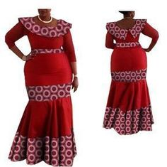 Dresses Length: Ankle-Length Sleeve Length(cm): Three Quarter Estimated Delivery Style: Casual Season: Autumn Material: Cotton Silhouette: Trumpet / Mermaid Decoration: None Pattern Type: Print Neckline: O-Neck Model Number: Waistl Latest African Fashion Dresses, African Dresses For Women, African Print Dresses, African Print Fashion, African Attire, African Clothes, Chitenge Dresses, African Fashion Traditional, Africa Dress