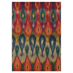 Add a pop of pattern to your living room or den with this artfully crafted rug, showcasing a multicolor ikat motif for eye-catching appeal. ...