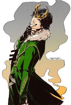 Loki Laufeyson [The Avengers] Loki Laufeyson, Loki Thor, Loki Art, Tom Hiddleston Loki, Marvel Avengers, Avengers Fan Art, Marvel Comics, Heros Comics, Marvel Art