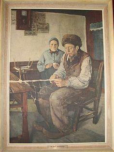 Chr. Krohg - Garnbinderen! Stemningsfull klassiker m/ garantiseddel