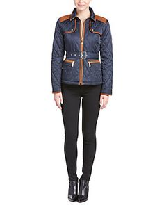 Vince Camuto Patch Quilted Jacket