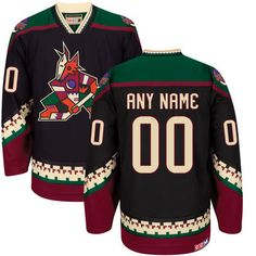 Arizona Coyotes CCM Custom Classic Throwback Jersey - Black - Fanatics.com
