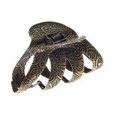 Antique Gold Metal Hair Claw | Claire's