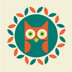 Love this owl!  Vintage looking!