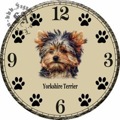 Yorkshire Terrier Dog Art  DIY Digital Collage от CocoPuffsDesigns