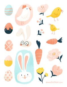 FREE Easter stickers for printing {emma trithart} Source by fabnfree Hoppy Easter, Easter Bunny, Easter Eggs, Printable Stickers, Planner Stickers, Free Stickers, Boho Pattern, Easter Illustration, Easter Stickers
