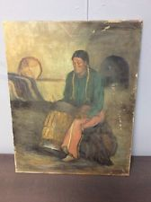 RARE Oil Painting Signed Durand Original Native American Indian Art Vintage Free A4 Poster, Poster Prints, American Indian Art, Native American, Vintage Artwork, Vintage Paintings, Antique Paint, The Good Old Days, Beautiful Artwork