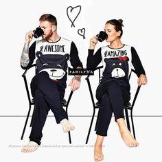 Matching super family pajamas available for this product. Matching Couple Pajamas, Matching Couple Outfits, Matching Couples, Lounge Outfit, Outfits For Teens, Cool Outfits, Adult Onesie Pajamas, Black Pajamas, Holiday Pajamas