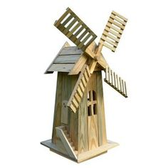 Building A House Discover Decorative Garden Windmill Lawn Ornament Wooden Yard Cedar Durable Holland New Yard Windmill, Wooden Windmill, Windmill Decor, Craft Stick Crafts, Wood Crafts, Wood Projects, Woodworking Projects, Objet Deco Design, Garden In The Woods