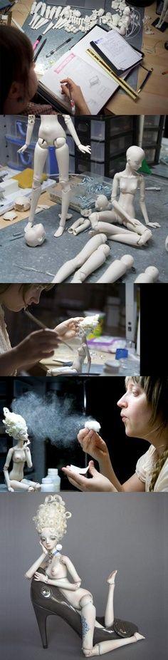 Marina Bychkova and the process involved in her amazing dolls