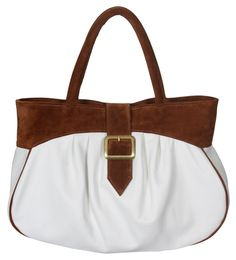 WANT! WANT! WANT! Style #366 white leather & rust suede