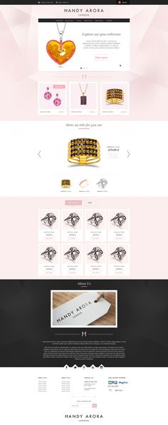 webdesign Jewellery ecommerce