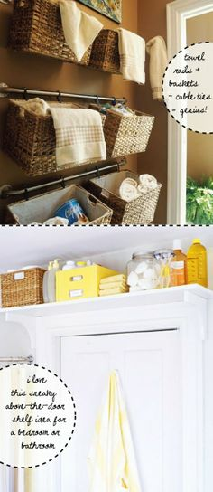 These are good ideas for my small bathroom - Click image to find more Home Decor Pinterest pins