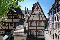 Fachwerkhäuser in der Nürnberger Altstadt
