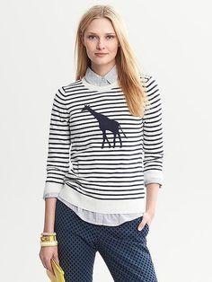 Animal sweater trend...